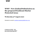WWF - New Zealand Submission on the proposed Southeast Marine Protected Areas